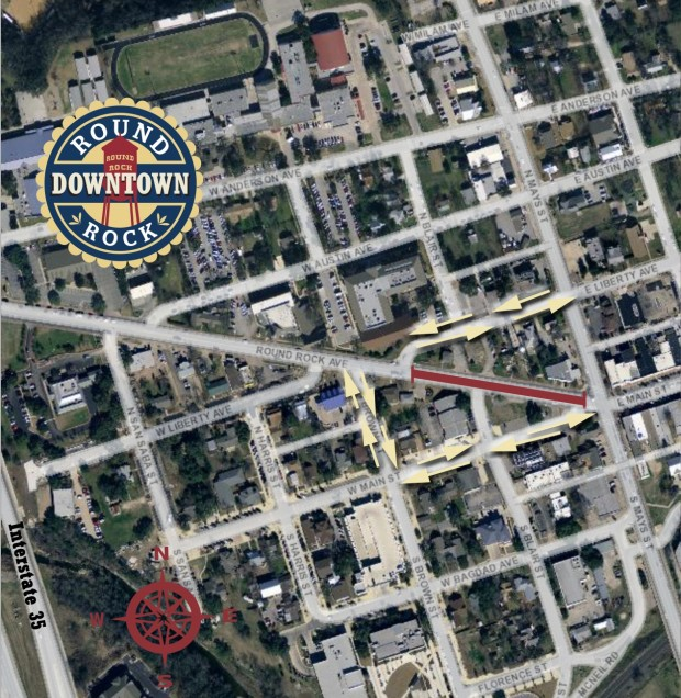 Traffic to be re-routed downtown beginning Friday