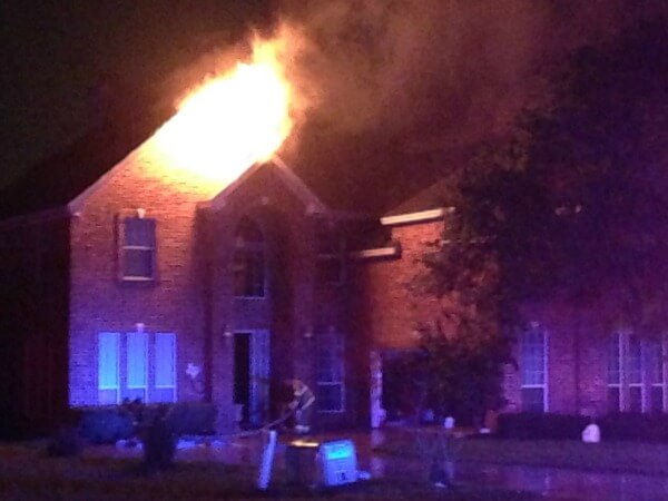Lightning strike suspected in home fire; no one injured