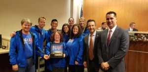 """Parks and Rec """"Pop Up Play Day"""" team wins Innovations Award and receives the Rock Award"""