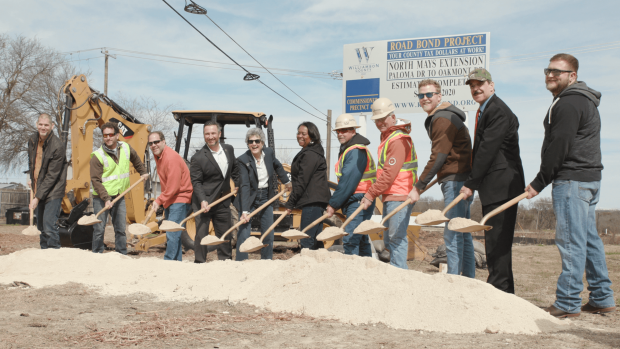 Officials break ground on North Mays Street extension