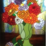 Stained glass art display, demos in June