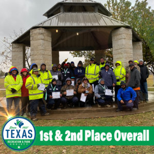 Parks Maintenance Team wins first & second place overall at the Texas Recreation and Park Society annual Maintenance Rodeo