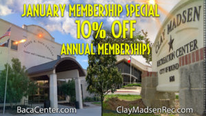City offers 10% off annual memberships at rec centers