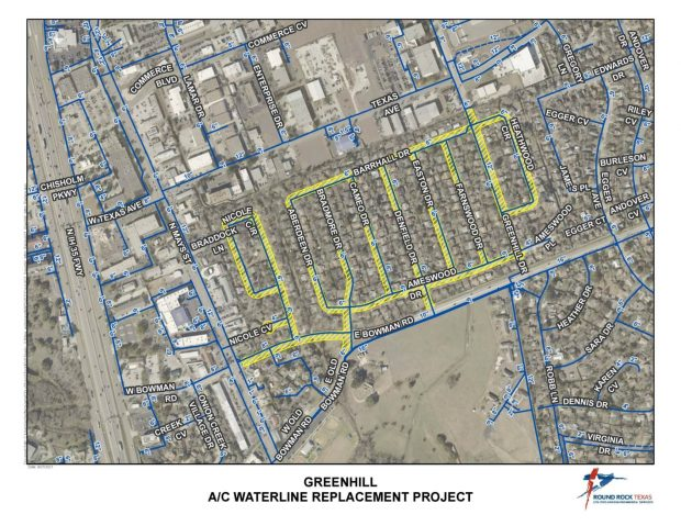 City to replace aging water lines in Greenhill subdivision
